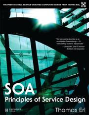 Cover of: SOA Principles of Service Design (The Prentice Hall Service-Oriented Computing Series from Thomas Erl) | Thomas Erl
