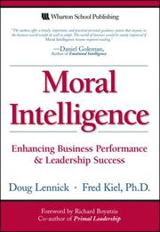 Cover of: Moral Intelligence | Doug Lennick
