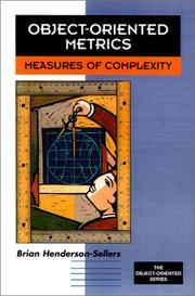 Cover of: Object-oriented metrics | Brian Henderson-Sellers