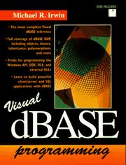 Cover of: Visual dBASE programming