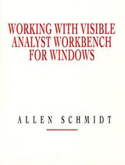 Cover of: Working with Visible Analyst Workbench for Windows | Allen Schmidt