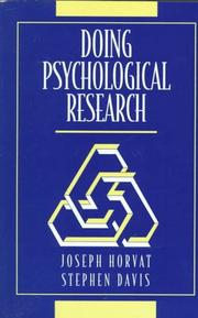 Cover of: Doing psychological research