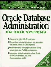 Cover of: Oracle database administration on UNIX systems