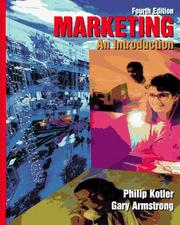 Cover of: Marketing: an introduction
