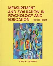 Cover of: Measurement and evaluation in psychology and education