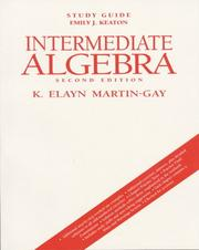 Cover of: Imtermediate Algebra