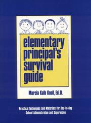 Cover of: Elementary principal's survival guide