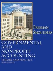 Cover of: Governmental and nonprofit accounting