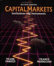 Capital Markets by Frank J. Fabozzi