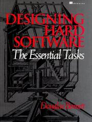 Cover of: Designing hard software