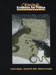 Cover of: Criminal evidence for police