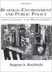Business environment and public policy by Rogene A. Buchholz