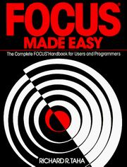 Cover of: Focus Made Easy | Richard R. Taha