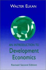 Cover of: An introduction to development economics