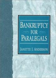 Cover of: Bankruptcy for paralegals
