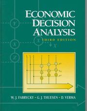 Cover of: Economic decision analysis | W. J. Fabrycky