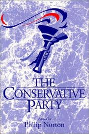Cover of: Conservative Party, The | Philip Norton