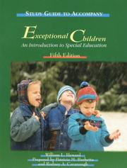 Cover of: Study Guide to Accompany Exceptional Children | William L. Heward