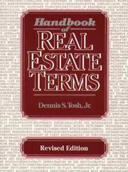 Cover of: Handbook of real estate terms