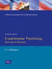 Cover of: Experimental Psychology Methods of Research, Seventh Edition | Frank J. McGuigan