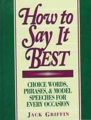 Cover of: How to say it best