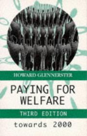 Cover of: Paying for welfare