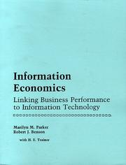 Cover of: Information economics | Marilyn M. Parker