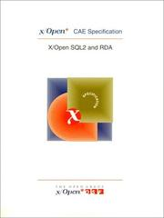 Cover of: X/Open SQL and RDA (2nd Edition) | Prentice-Hall