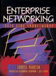 Cover of: Enterprise networking