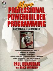 Cover of: More professional PowerBuilder programming