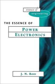 Cover of: The essence of power electronics