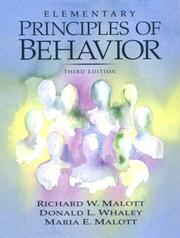 Cover of: Elementary principles of behavior