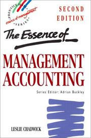 Cover of: The essence of management accounting