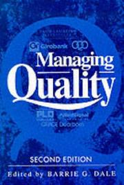 Cover of: Managing quality