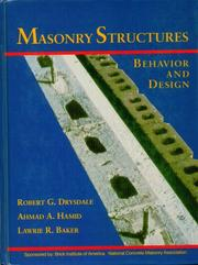 Cover of: Masonry structures | Robert G. Drysdale