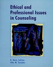 Cover of: Ethical and professional issues in counseling
