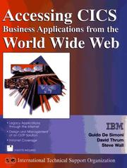 Cover of: Accessing CICS business applications from the World Wide Web