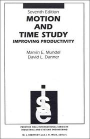 Cover of: Motion and Time Study | Marvin Everett Mundel