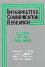 Cover of: Interpreting Communication Research | Lawrence R. Frey