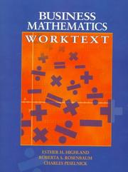 Cover of: Business mathematics worktext | Esther Harris Highland
