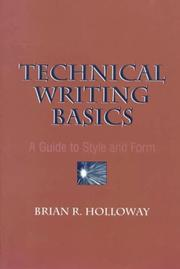 Cover of: Technical Writing Basics | Brian R. Holloway