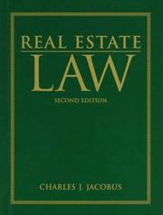 Cover of: Real estate law