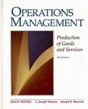 Cover of: Operations management | John O. McClain