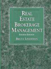 Cover of: Real estate brokerage management