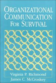 Cover of: Organizational Communication for Survival 5th Ed.