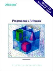 Cover of: OSF/MOTIF Programmer