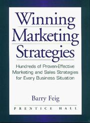 Cover of: Winning Marketing Strategies | Barry Feig