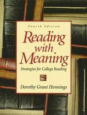 Cover of: Reading with Meaning | Dorothy Grant Hennings