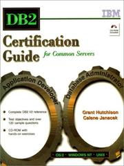 Cover of: DB2 certification guide for common servers