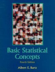 Cover of: Basic statistical concepts